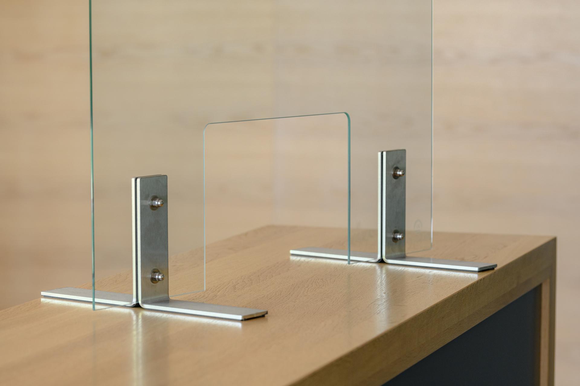 Spuck- und Niesschutz - Thekenaufsatz - Hustenschutz - Schutzglas, 4mm ESG